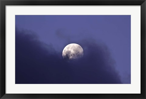 Framed Moon and Jupiter in a very close Conjunction Print