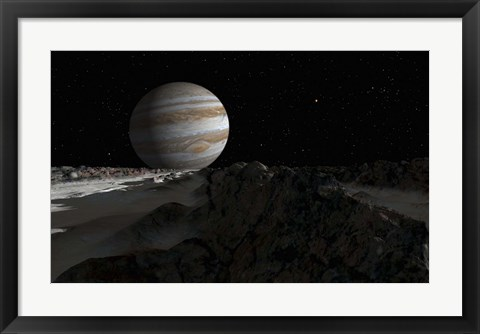 Framed Ice ridges on Jupiter's moon, Europa Print