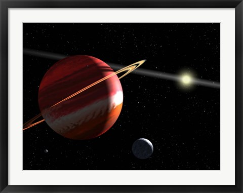 Framed Jupiter-mass planet orbiting the nearby star Epsilon Eridani Print