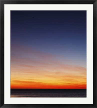 Framed Conjunction of Venus, Mercury, Jupiter and Mars at Dawn Print