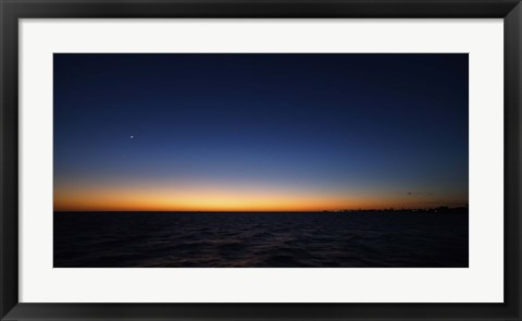 Framed Moon and Venus in Conjunction Print