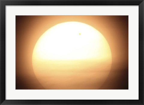 Framed Venus Transiting in front of the Sun I Print