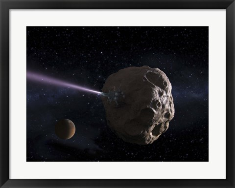 Framed Deflecting Path of an Earth-Crossing Asteroid Print