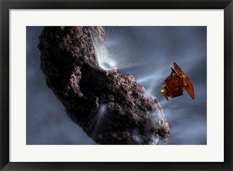 Framed Deep Impact's Encounter with Comet Tempel 1 Print