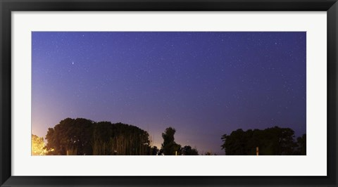 Framed Wide Panorama of Comet Panstarrs, Mercedes, Argentina Print