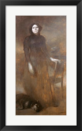 Framed Madame Carriere And Her Dog Farot, 1895 Print