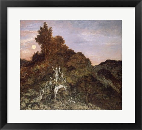 Framed Death Of Orpheus, 1890 Print