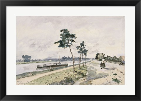 Framed Seine at Argenteuil,  c. 1867 Print