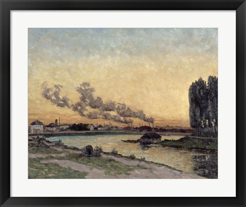 Framed Sunset At Ivry, 1878 Print