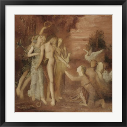 Framed Hesiod And The Muses Print