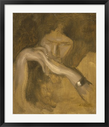 Framed Woman With A Ring Print