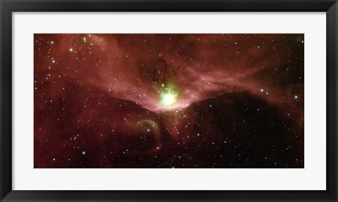 Framed Sharpless 140 in the Constellation Cepheus Print