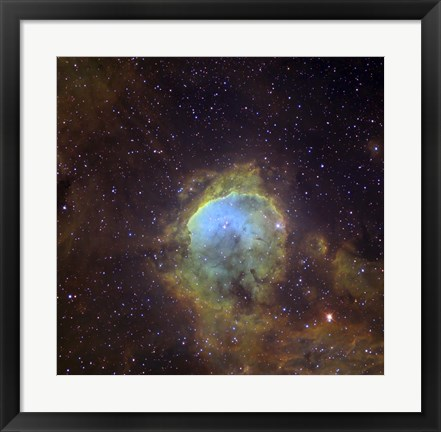 Framed NGC 3324, also known as the Gabriela Mistral Nebula located in the Constellation Eta Carinae Print
