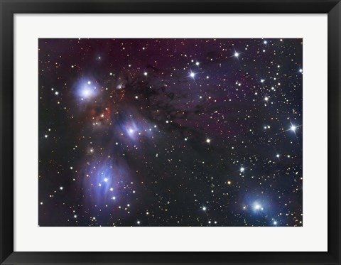 Framed NGC 2170, a reflection nebula located in the Constellation Monoceros Print