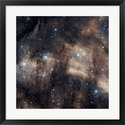 Framed IC 5068, a faint emission nebula located in the Constellation Cygnus Print