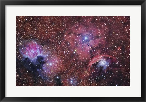 Framed star forming region in the Constellation of Sagittarius Print