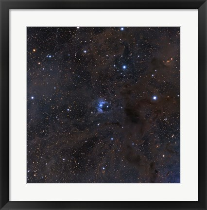 Framed bright star VdB 16, dust and nebulosity in the Constellation Aries Print
