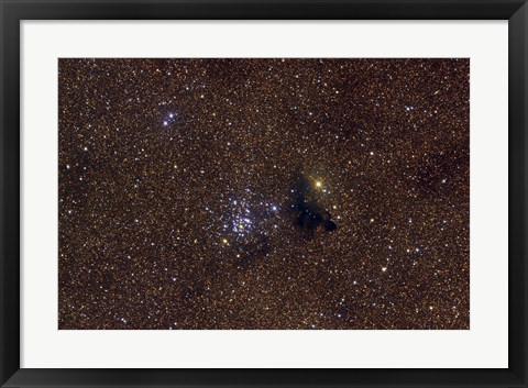 Framed NGC 6520, an open cluster in the Constellation Sagittarius Print