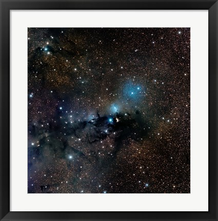 Framed VdB 123 reflection Nebula in the Constellation Serpens Print