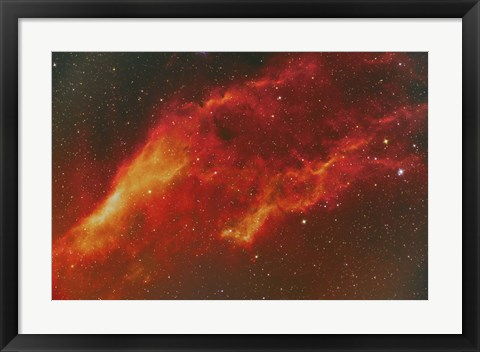 Framed NGC 1499, the California Nebula in the Constellation Perseus Print