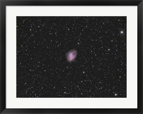 Framed Crab Nebula, a supernova remnant in the Constellation of Taurus Print