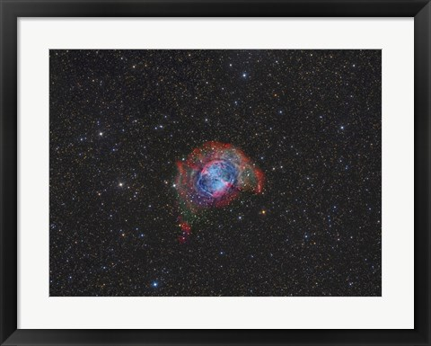 Framed Messier 27, the Dumbbell Nebula Print