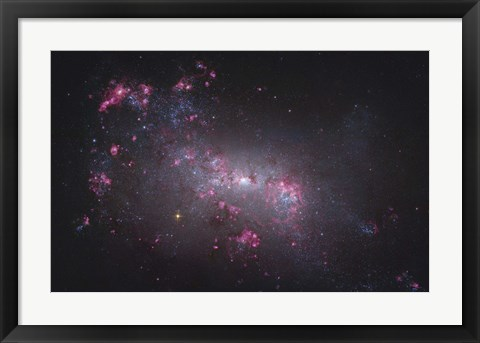 Framed NGC 4449, an irregular galaxy in the Constellation Canes Venatici Print
