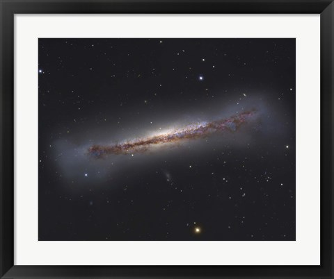 Framed NGC 3628, an unbarred spiral galaxy in the Constellation Leo Print