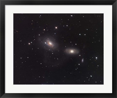 Framed Galaxies NGC 3166 and NGC 3169 in the Constellation Sextans Print