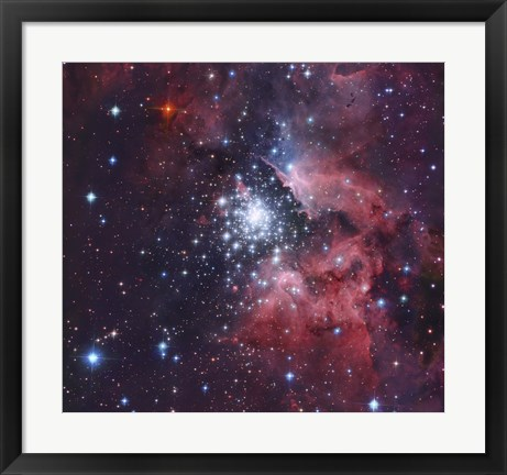 Framed NGC 3603, a giant H-II region in the Constellation Carina Print