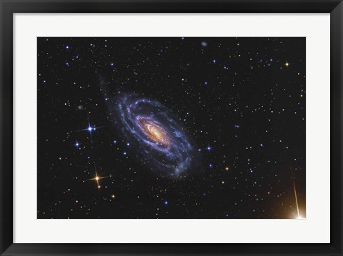 Framed NGC 5033, a spiral galaxy situated in the Constellation of Canes Venatici Print