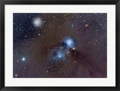 Framed Corona Australis, a Constellation in the Southern Hemisphere Print