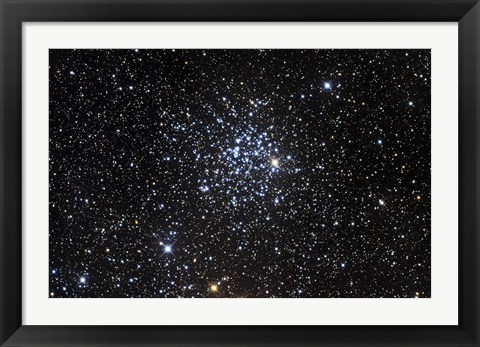 Framed Messier 52, also known as NGC 7654, is an open cluster in the Cassiopeia Constellation Print