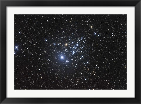 Framed NGC 457 is an open star cluster in the Constellation Cassiopeia Print