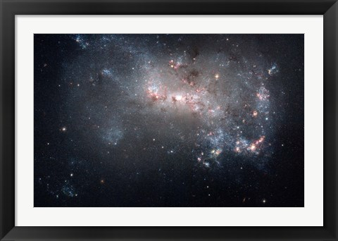 Framed Magellanic dwarf irregular galaxy NGC 4449 in the Constellation Canes Venatici Print