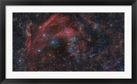 Framed Large complex of dust and gas in the Constellations Lacerta and Pegasus Print
