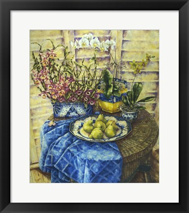 Framed Orchids And Pears Print