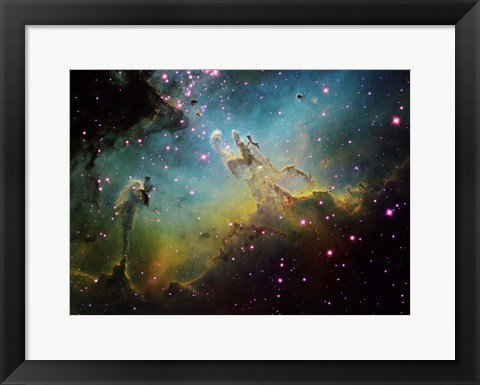 Framed M16 the Eagle Nebula Print