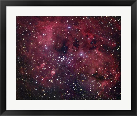 Framed IC 410 emission Nebula in Auriga Print