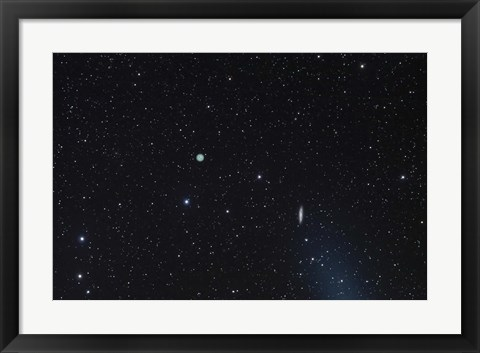 Framed M108 galaxy and M97 Owl Nebula Print