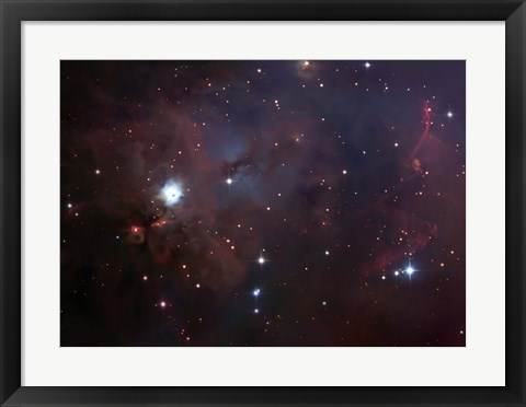 Framed NGC 1999 is a dust filled bright Nebula Print