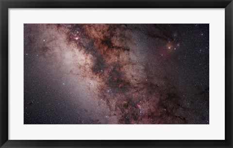 Framed Stars, Nebulae and dust clouds around the center of the Milky Way Print