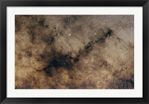 Framed dark Nebula against the Milky Way Print