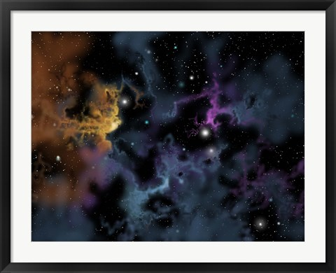 Framed Gaseous Nebula from which star formation may occur Print