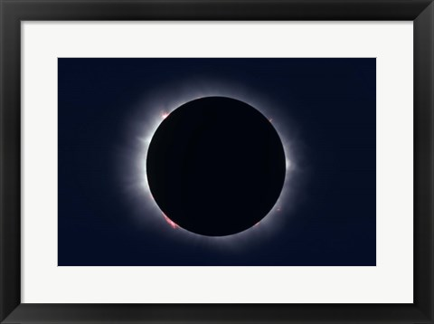 Framed Total Solar Eclipse taken near Carberry, Manitoba, Canada Print