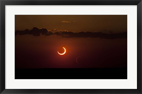 Framed Annular Solar Eclipse Print