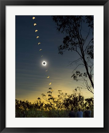 Framed Solar Eclipse composite, Queensland, Australia I Print