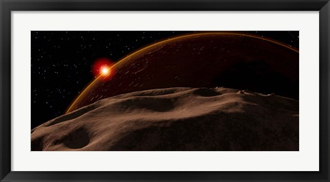 Framed Eclipse of the Sun by Mars as seen from the surface of its moon, Phobos Print