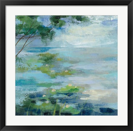Framed Lily Pond I Print