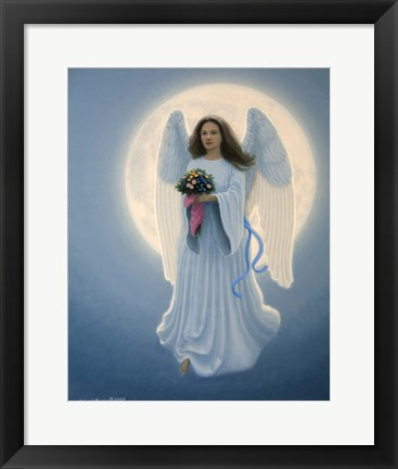 Framed Moon Angel Print